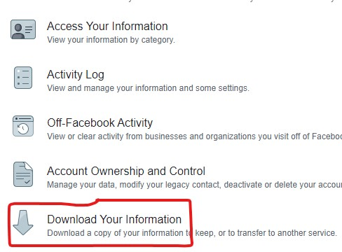 download-your-information